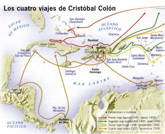 Primer viaje (1492-1493), con tres nave y 120 hombres: isla de guanani