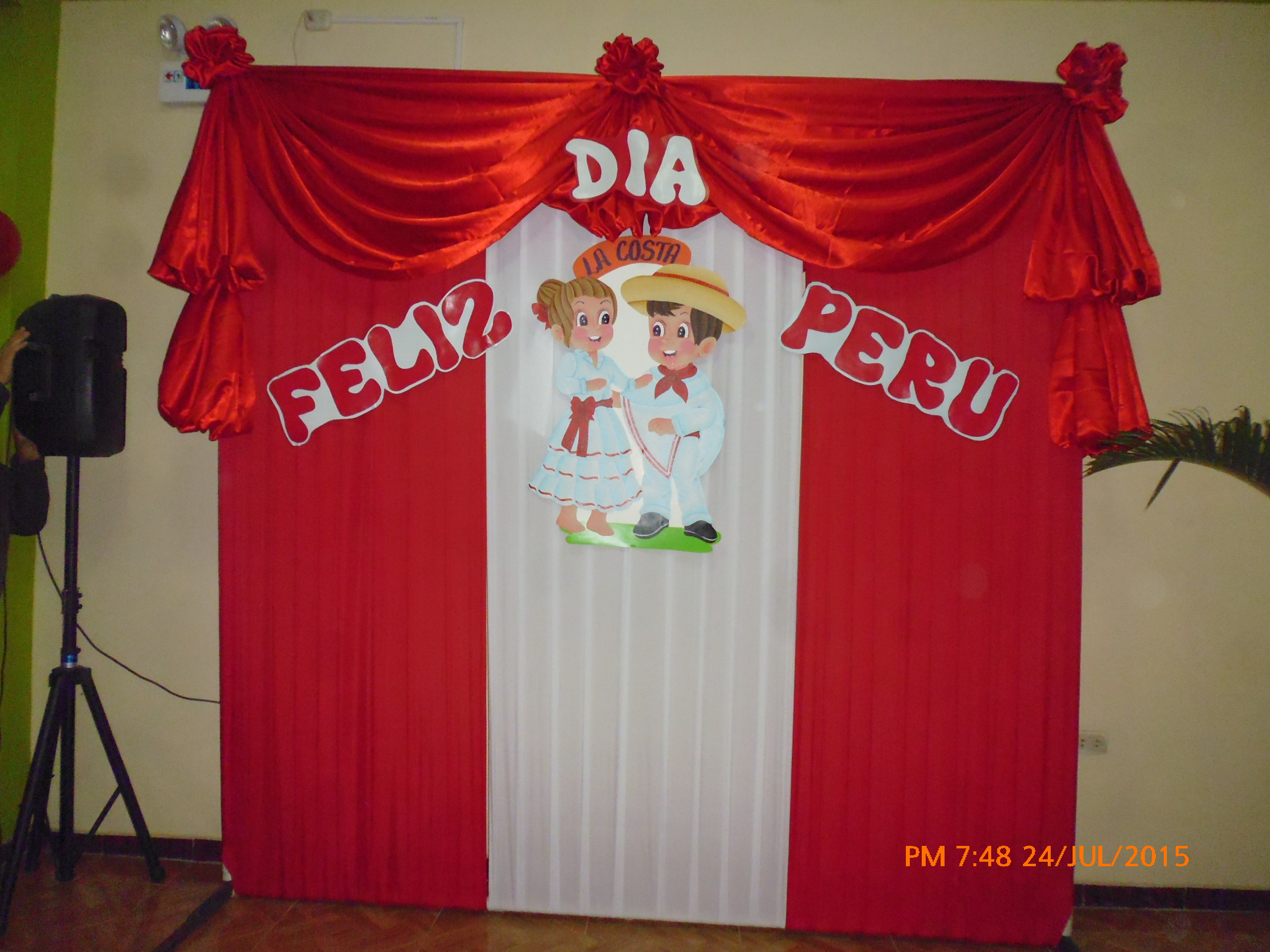 Decoracion de fiestas patrias para jardin infantil for Puertas decoradas de la independencia